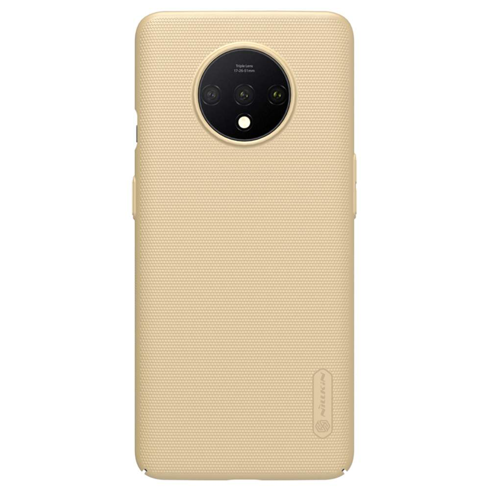 NILLKIN Protective Frosted PC Phone Case For Oneplus 7T Smartphone - Gold