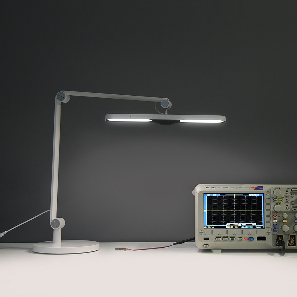 Yeelight YLTD06YLスマートLEDデスクランプ調整可能なアプリコントロール目の保護-白