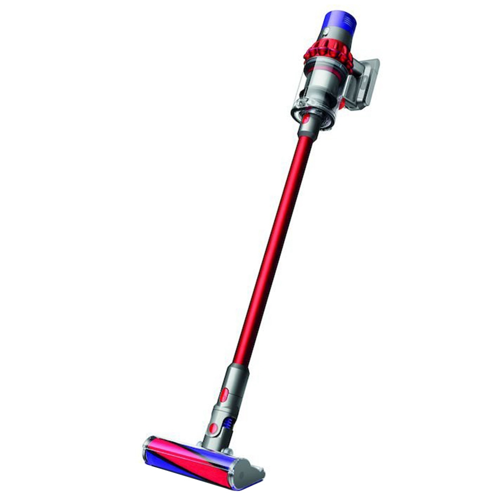Dyson Cyclone V10 Fluffy Cordless Lightweight Vacuum Cleaner 130AW Powerful Suction With LED Indicator - Red