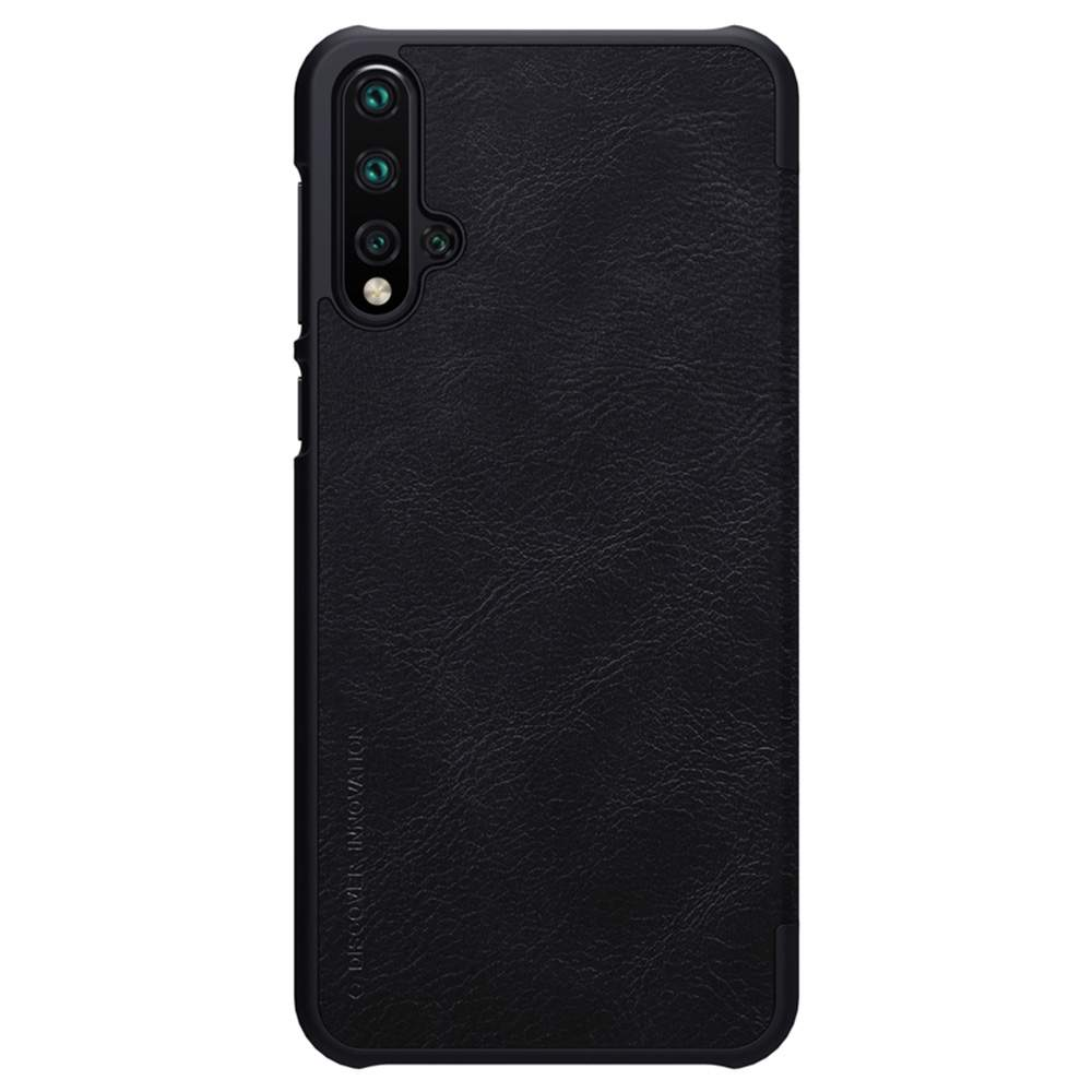 NILLKIN Protective Leather Phone Case For HUAWEI Nova 5 / Nova 5 Pro Smartphone - Black