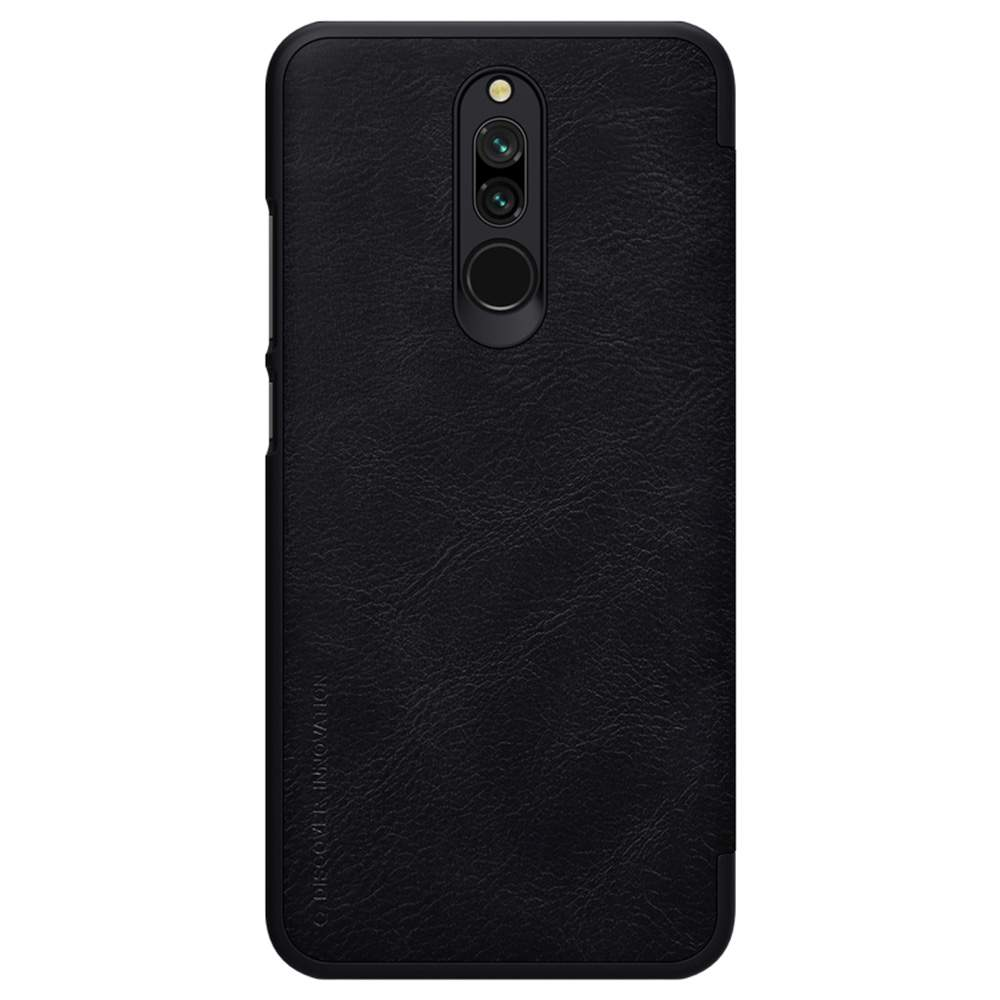 NILLKIN Protective Leather Phone Case For Xiaomi Redmi 8 Smartphone - Black фото