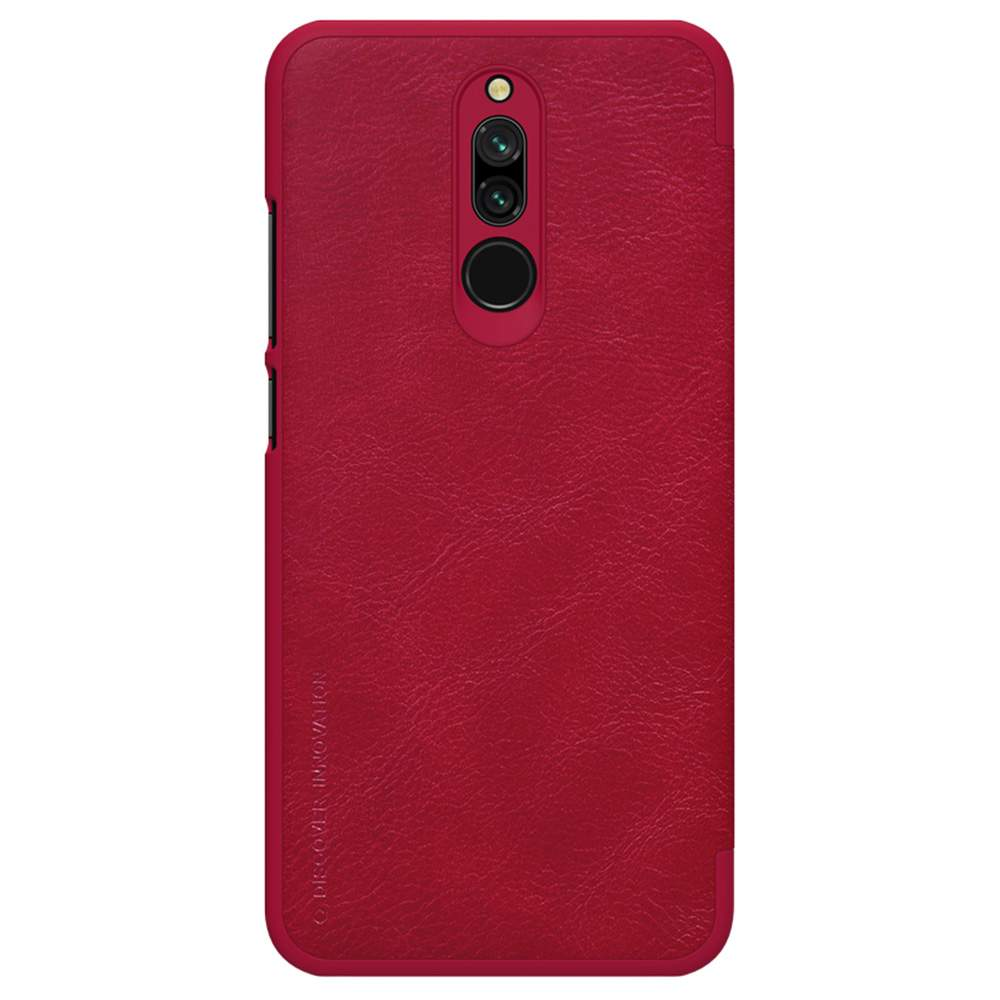 NILLKIN Leather Phone Case For Xiaomi Redmi 8 Red