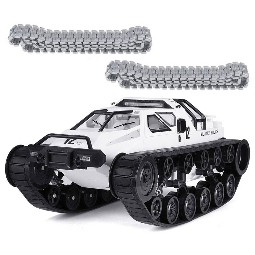 SG 1203 1:12 2.4G Military Police Drift RC Tank 12km/h High-speed RC Vehicle RTR With Metal Plastic Track - White