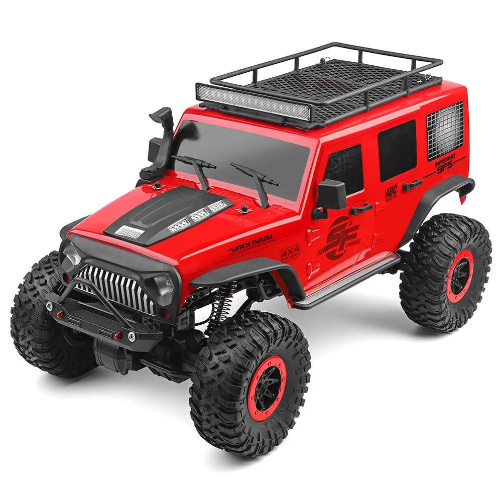 Wltoys 104311 JEEP 1 / 10 2.4G 4WD Voiture de véhicule d'escalade pour véhicule d'escalade sur rocher, balayée, avec balai électrique, rouge - Rouge