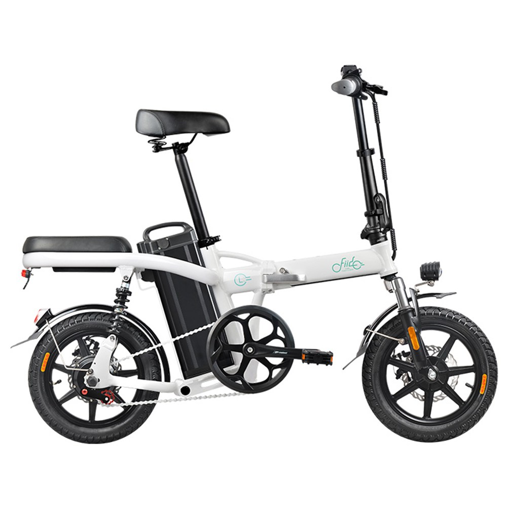 FIIDO L2 Folding Electric Moped Bike City Bike Commuter Bike Max 25km/h Three Riding Modes 20Ah Lithium Battery 14 Inch Tire - White
