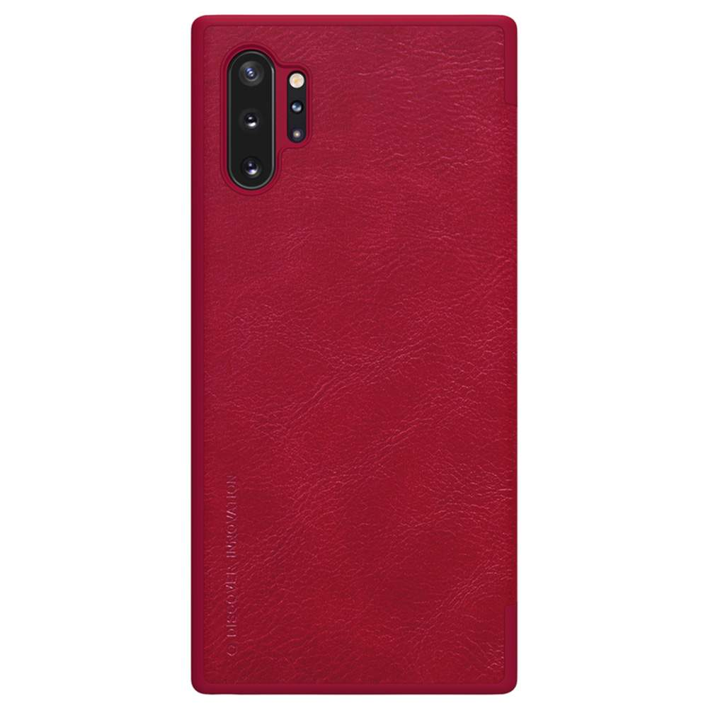 NILLKIN Protective Leather Phone Case For Samsung Galaxy Note 10+ / Note 10+ 5G Smartphone - Red фото