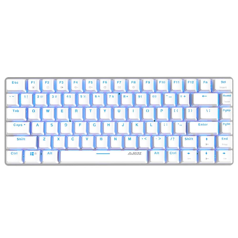 Ajazz AK33 Mechanical Blue Switches Mechanical Keyboard Full Backlight for Windows 7/8/Vista/XP/98SE/ME - White фото