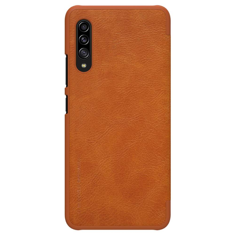 NILLKIN Protective Leather Phone Case For Samsung Galaxy A90 5G Smartphone - Brown фото