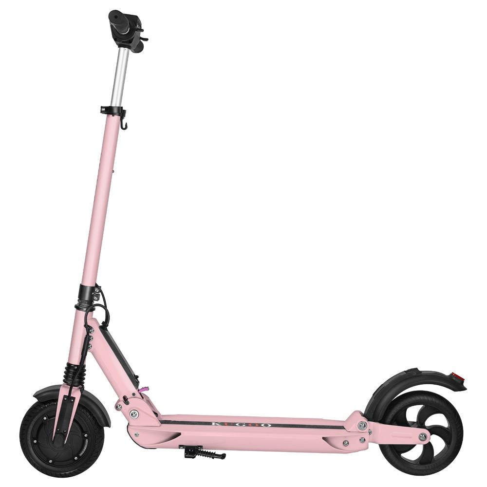 KUGOO S1 Folding Electric Scooter 350W Motor LCD Display Screen 3 Speed Modes 8.0 Inches Solid Rear Anti-Skid Tire - Pink