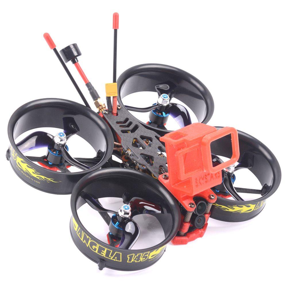 Skystars Angela 145 4K 3 Inch Whoop FPV Racing Drone F4 OSD 4 In 1 35A ESC 5.8G 500mW VTX Runcam Hybrid Cam BNF - Frsky XM + Receiver