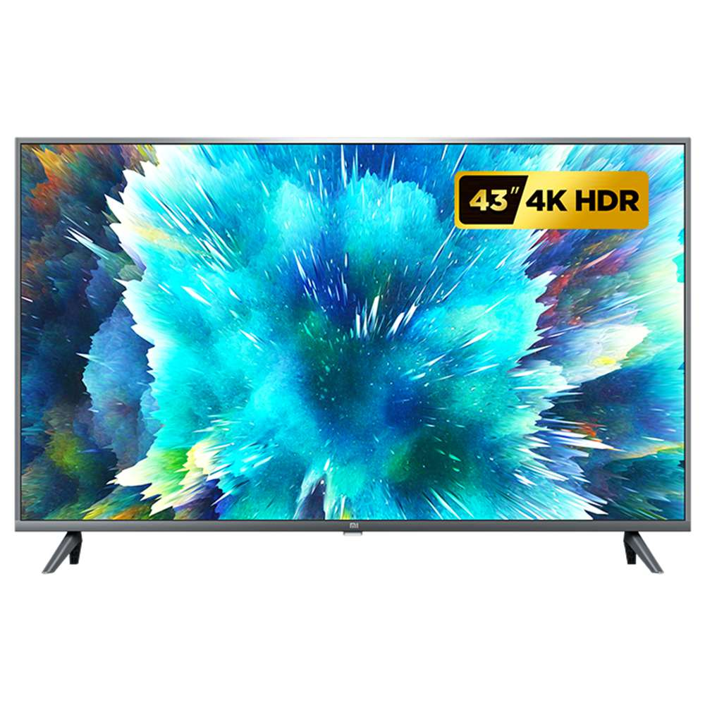 Xiaomi Mi TV 4S 43 & # 39; & # 39; 4K Smart TV DVB-T2 / C Android TV HDR Amlogic Processore a 64 bit Dolby Audio DTS HD HDMI * 3 USB * 2 Bluetooth - Nero