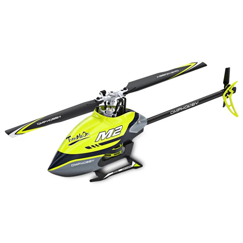 OMPHOBBY M2 400mm Dual Brushless Motor Direct Drive Violent 3D Flight RC Helicopter Model With OFS FC BNF - Yellow фото