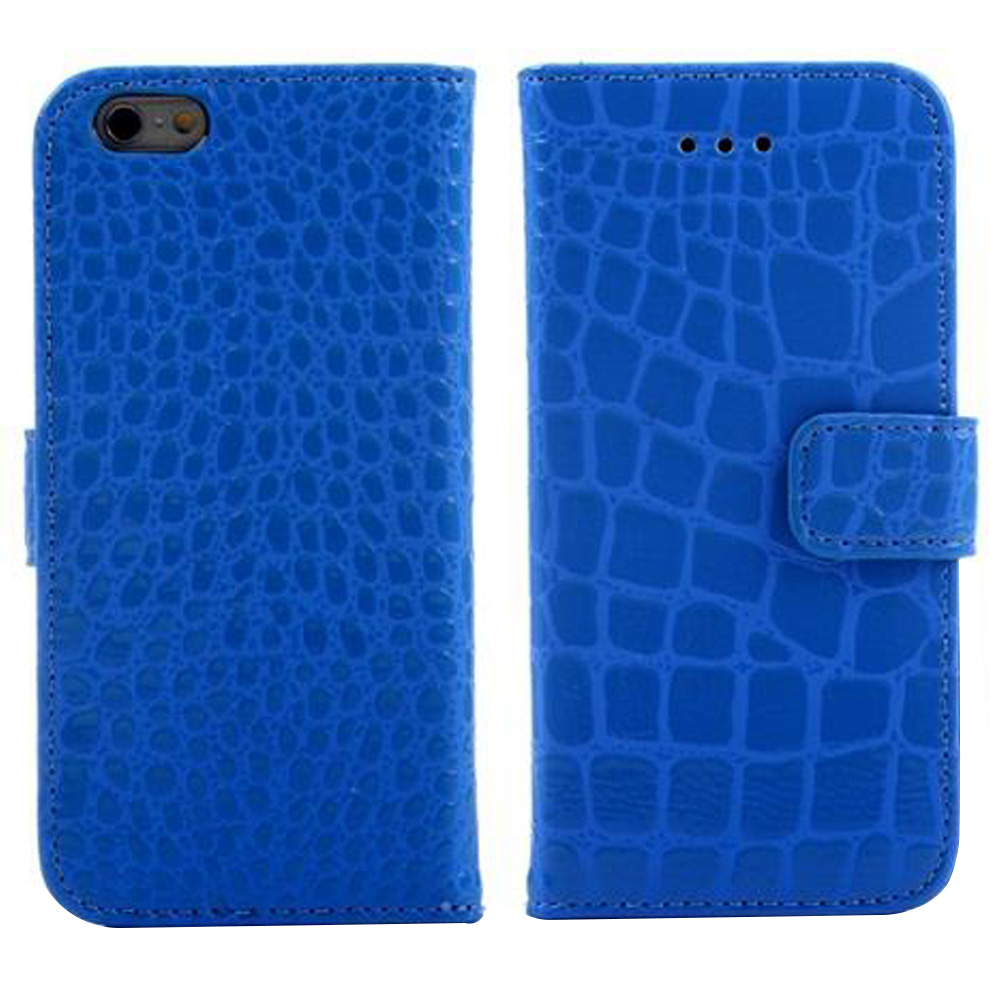 A04 Crocodile Pattern Faux Leather Flip Case With Mount Stand & Card Slot for 5.5