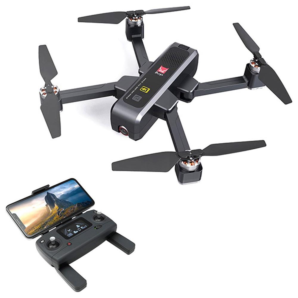 البق MJX 4 W B4W 4K 5G WIFI FPV GPS طوي RC الطائرة بدون طيار مع RTF تحديد المواقع التدفق بالموجات فوق الصوتية - حقيبة بطاريتين