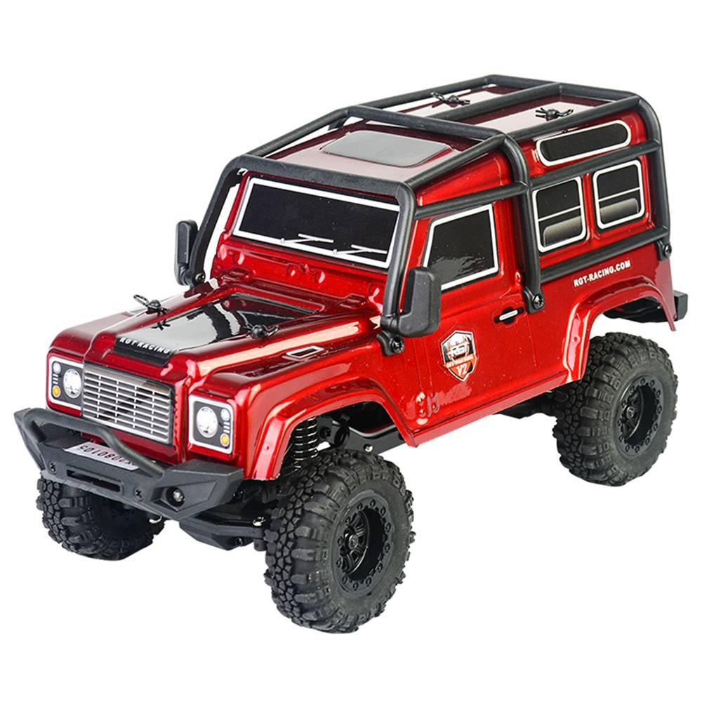 RGT 136240 V2 ADUENTURER 1 / 24 2.4G 4WD 15km / h MINI Fuoristrada per arrampicata su cingoli per roccia RC Modello auto RTR - Rosso