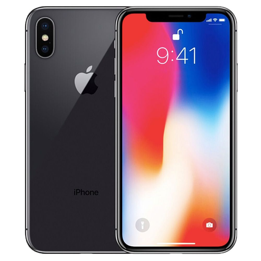 "Apple iPhone X 64GB Unlocked Gray 5.8"" Retina Display, Face ID - Used (Item Condition - 99% New)"