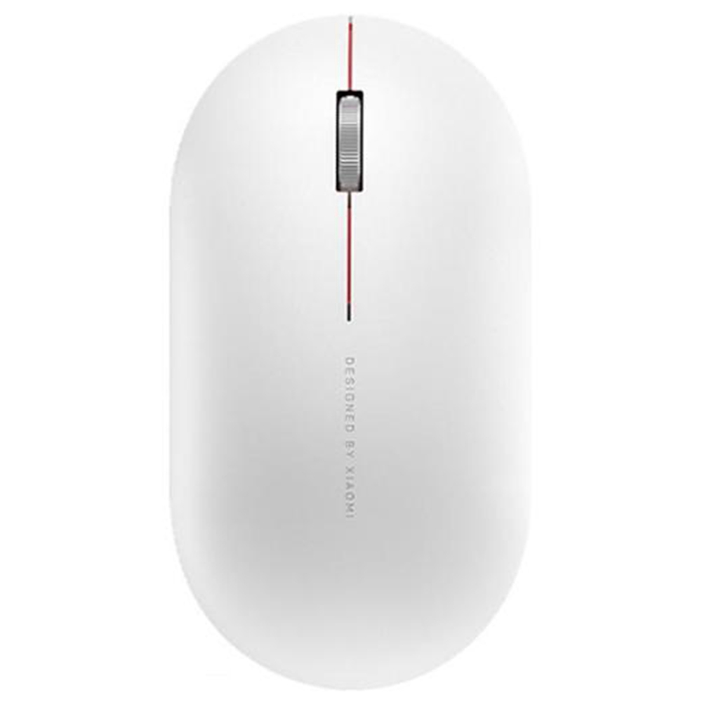 Xiaomi Wireless Mouse 2 Mute Portable Ultradunne 2.4G Wireless 1000DPI voor pc-laptop - Wit