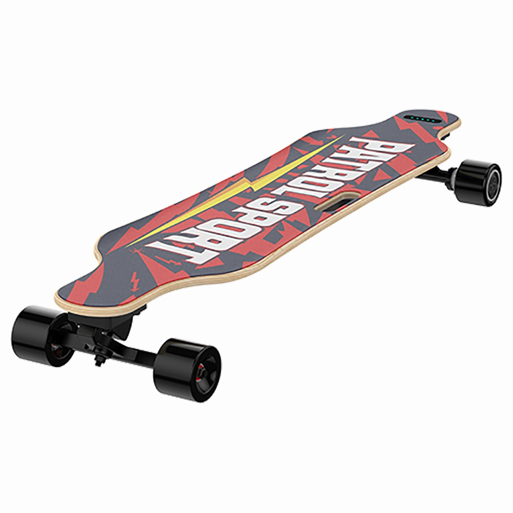TALU T1002 Body Control Electric Skateboard Hands-free 200W Motor LG 155WH Battery Max 20km/h Speed Up To 20km Range APP Control 70mm Detachable Tires - Black & Red фото