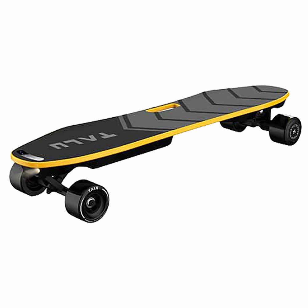 TALU TL-A001 Skateboard elettrico per il controllo del corpo Motore 360W vivavoce Batteria LG 99.6WH Batteria Max 30km / h Velocità fino a 15km Gamma Controllo APP 83mm Pneumatici rimovibili per adulti - Nero