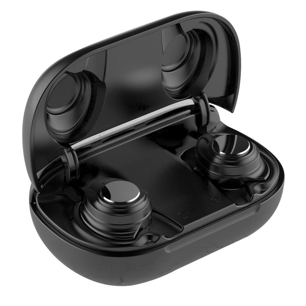 TWS-X9 UV fertőtlenítés Bluetooth 5.0 TWS fülhallgatók független használatú, C típusú LED kijelző - fekete
