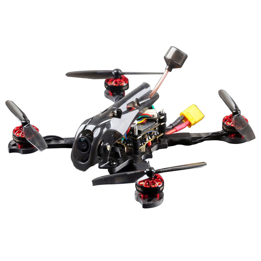 Happymodel Larva X HD 125mm 3-4S Toothpick And Whoop 2 IN 1 FPV Racing Drone BNF - TBS Crossfire Nano Receiver