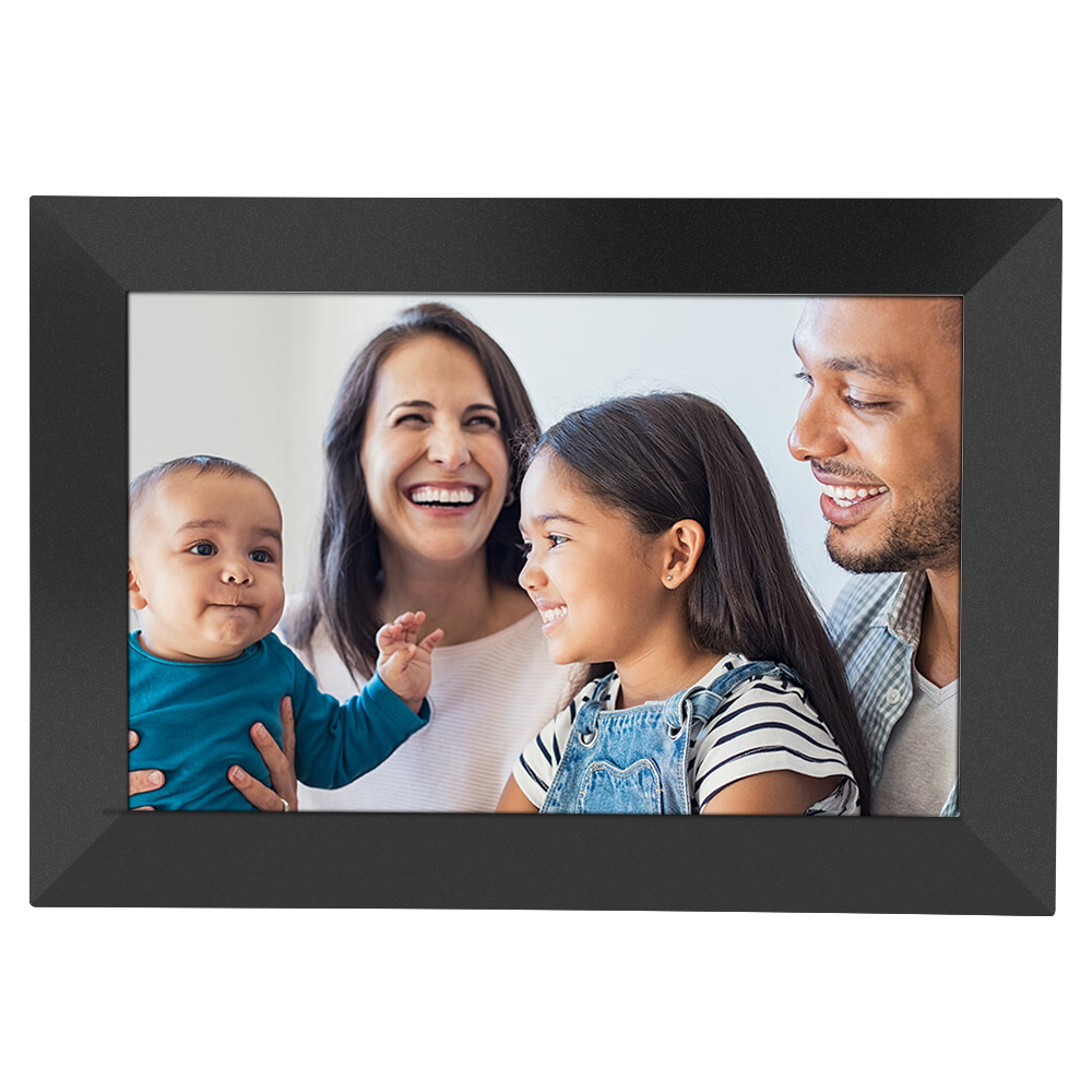Frameo P100 10.1 inch WIFI Digital Picture Frame 16GB Storage 1280 x 800 IPS Touch Screen, Share Moments Instantly via App , 1080P Video, SD Card and Micro USB - Black