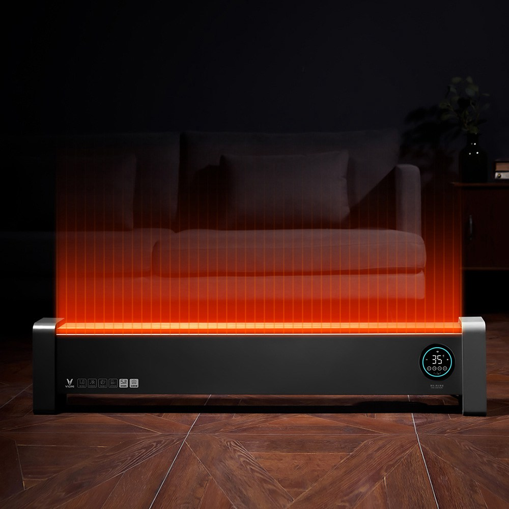 Xiaomi Viomi Pro Electric Baseboard Heater 2200W IPX4 Waterproof APP Remote Control - Black фото