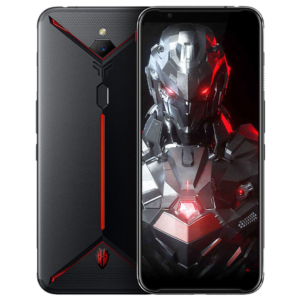 Nubia Red Magic 3S 4G LTE Smartphone 6.65 Inch FHD+ Screen Snapdragon 855 8GB RAM 128GB ROM Dual SIM Dual Standby 5000mAh Large Battery Fingerprint ID Android 9 OS Global ROM - Black