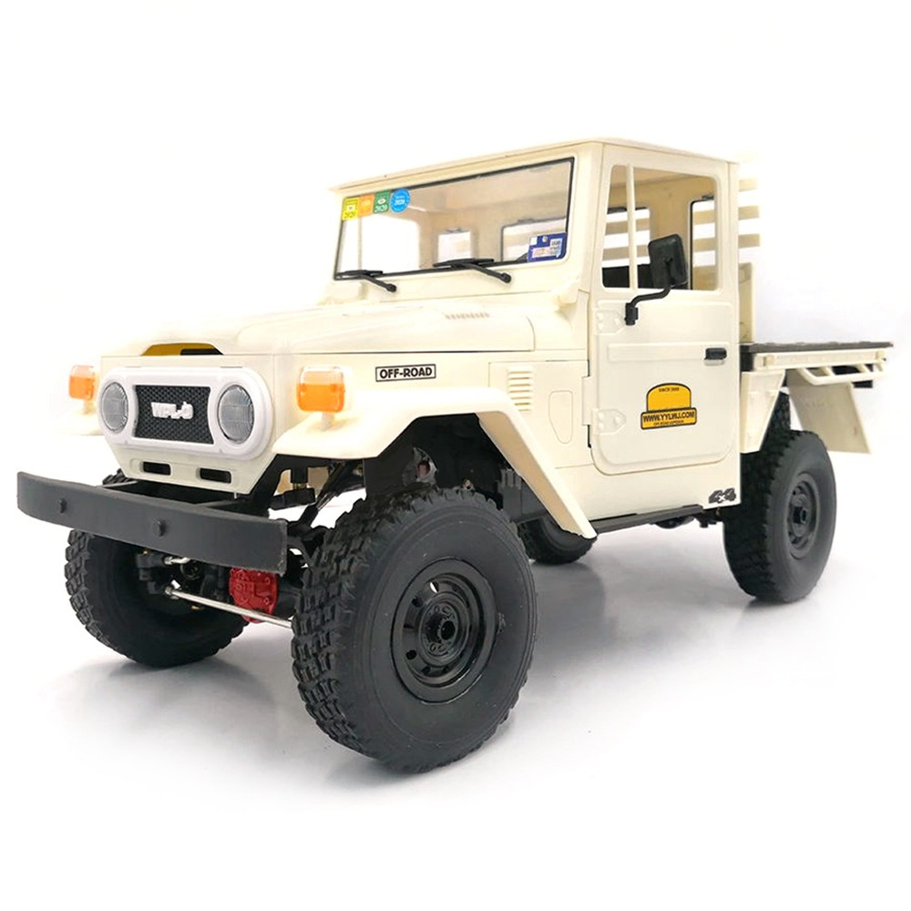 WPL C44KM FJ45 2.4G 1 / 16 4WD Kit per auto RC per arrampicata su cingoli per fuoristrada - Bianco