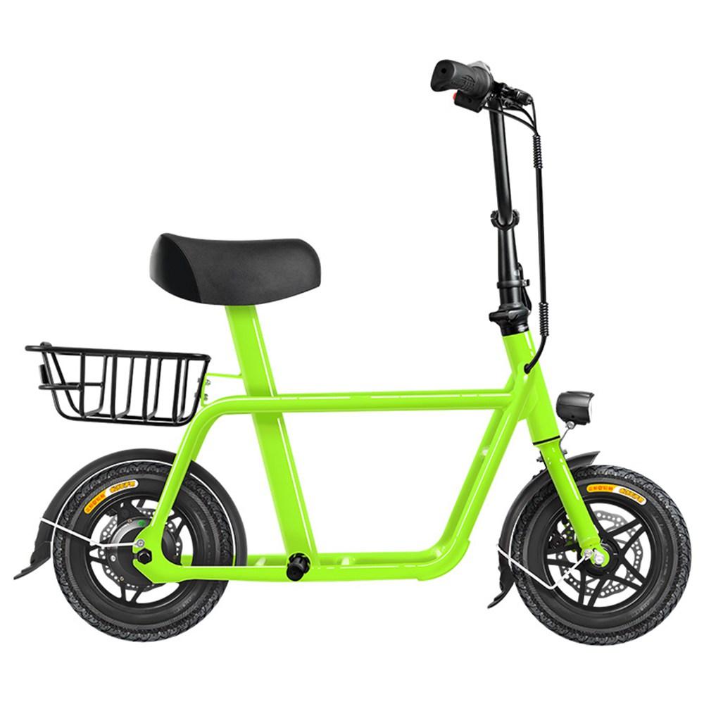 FIIDO Q1 Folding Electric Moped Bike 12 Inch 250W Brushless Motor Up To 35-55km Range Dual Disc Brake Electronic Lock LED Display - Green фото