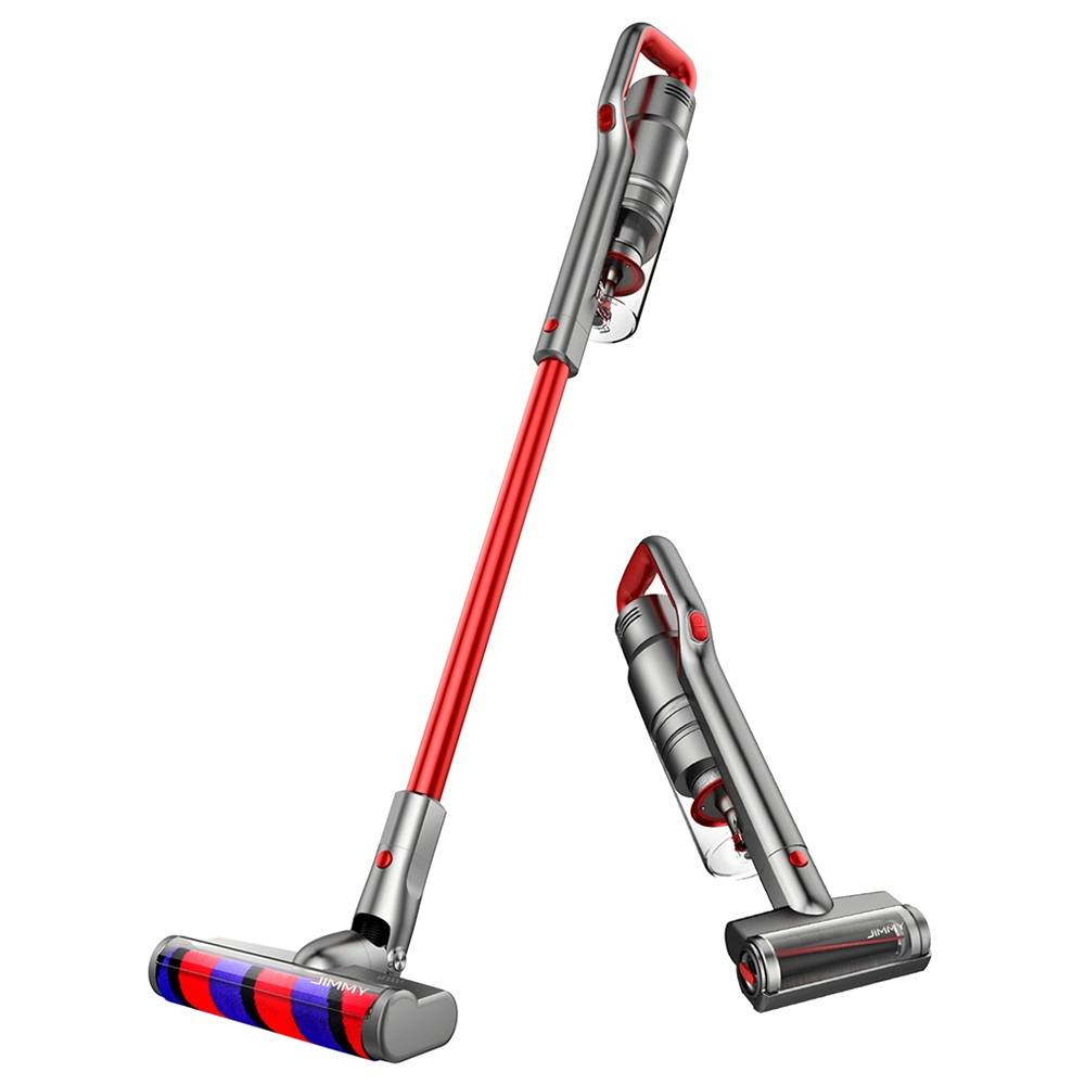 JIMMY JV65 Handheld Cordless Stick Vacuum Cleaner 145AW Suction Anti-winding Hair Mite 70 Minutes Run time - Red