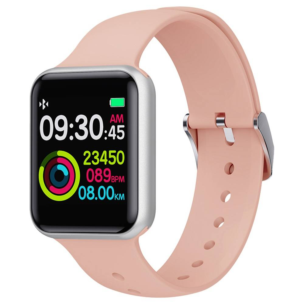 Makibes SN72 Smartwatch 1.3 Inch IPS Colorful Screen IP68 Waterproof Blood Oxygen Pressure Heart Rate Monitor - Pink