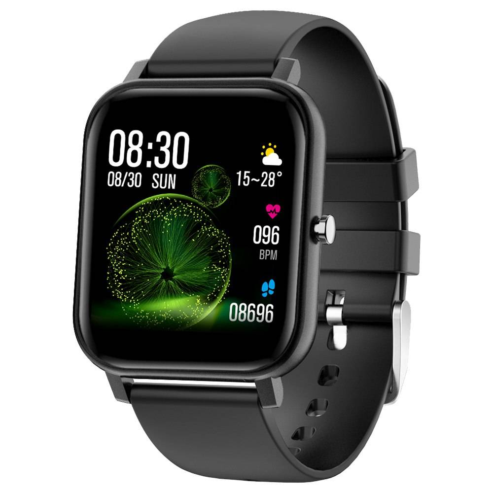 Makibes V20 SmartWatch 1.4 Inch IPS Screen IP67 Water Resistant Heart Rate Blood Pressure Sleep Monitor - Black