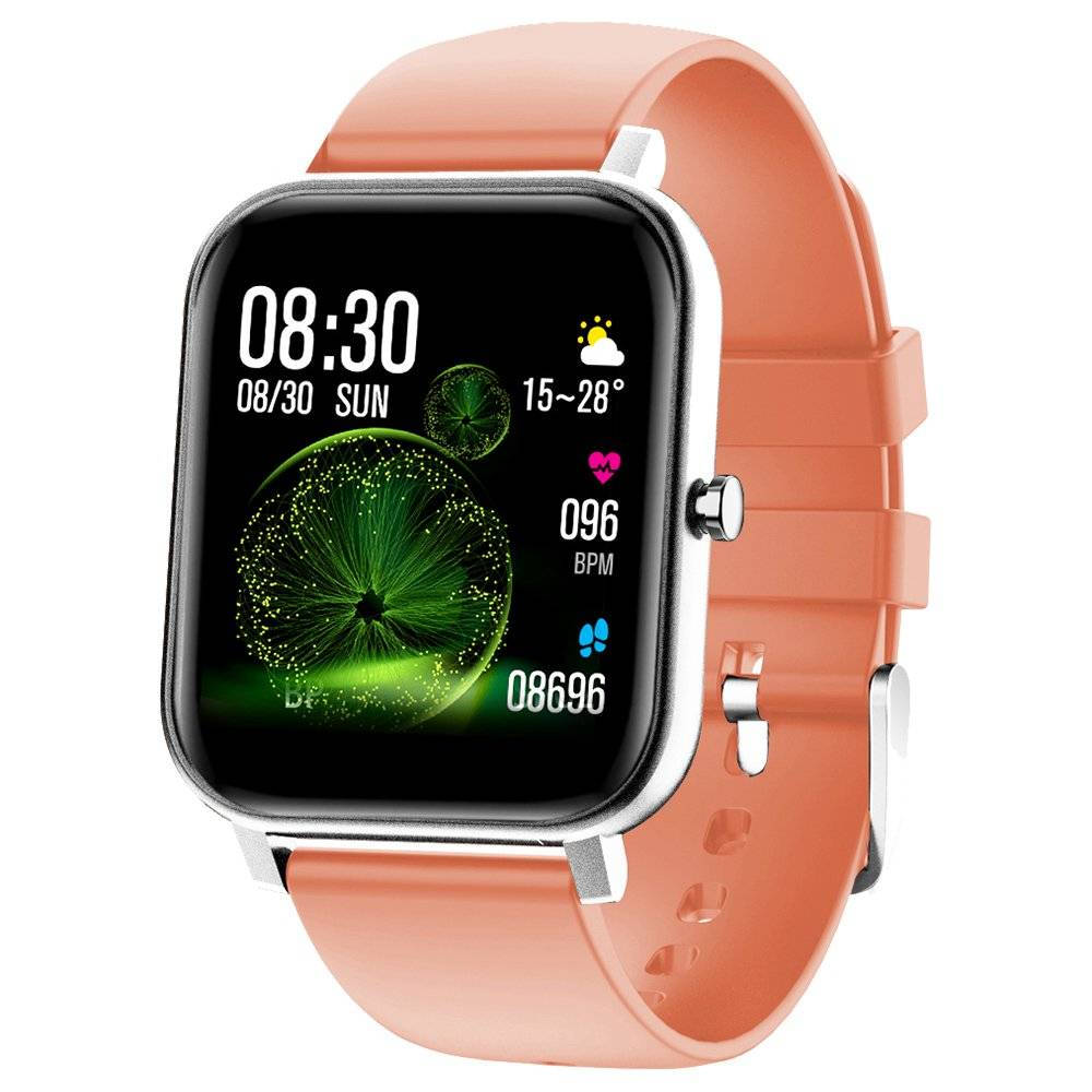 Makibes V20 SmartWatch 1.4 Inch IPS Screen IP67 Water Resistant Heart Rate Blood Pressure Sleep Monitor - Pink