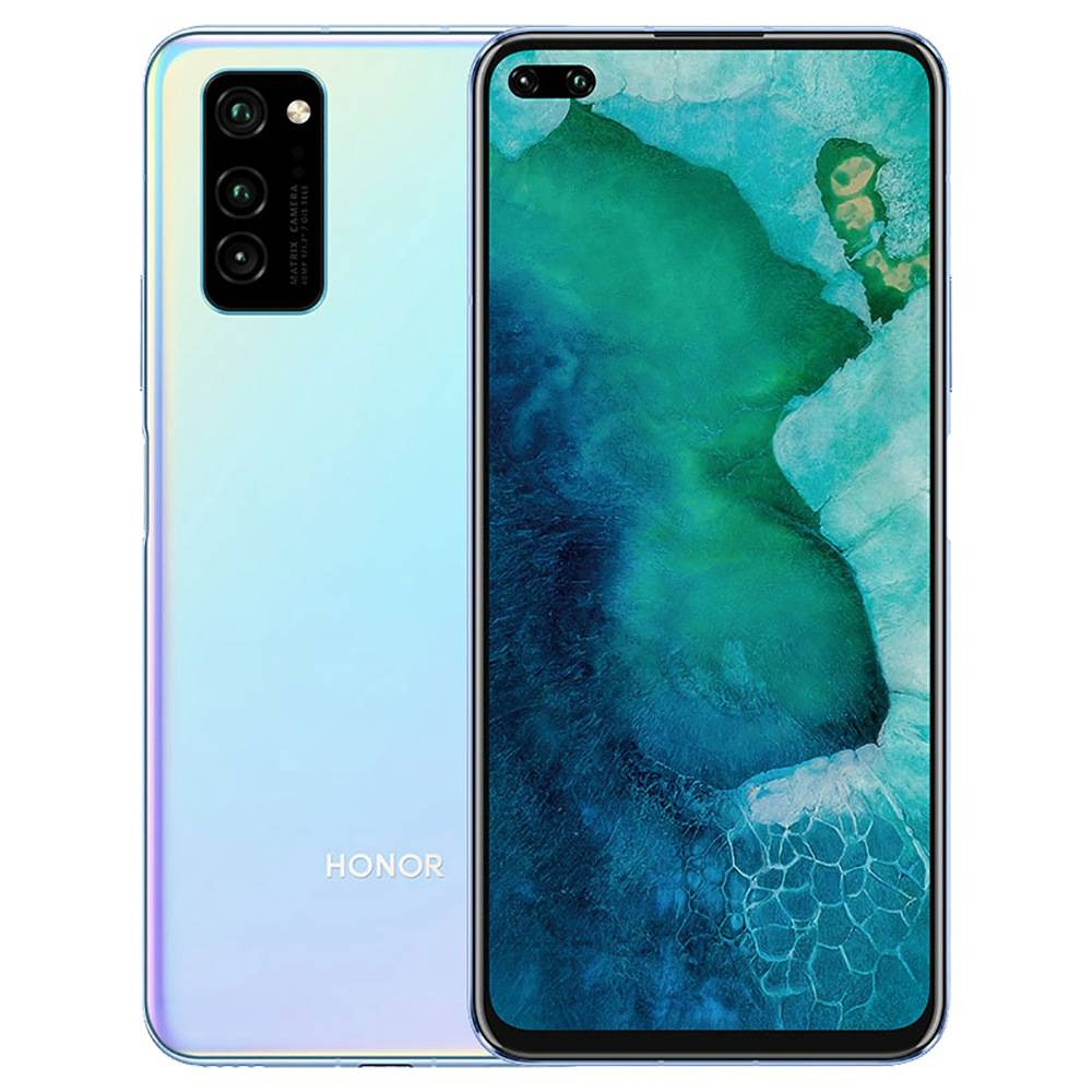 HUAWEI Honor V30 CN Version 5G Dual-Mode Smartphone 6.57 Inch FHD+ Screen Kirin 990 Octa-core 6GB RAM 128GB ROM 40 Million Camera Matrix 4200mAh Large Battery Android 10.0 Dual SIM Dual Standby - Icelandic Frost