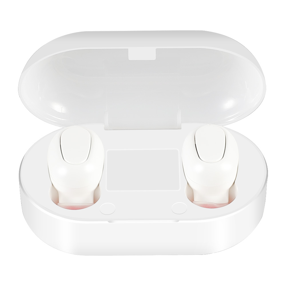 L22 TWS Bluetooth 5.0 CVC 8.0 Earbuds Binaural Call Independent Use IPX5 - White