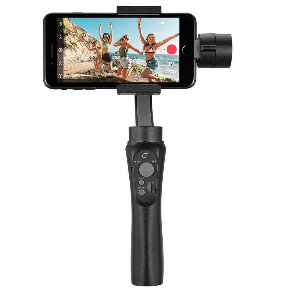 CINEPEER C11 3Axis Vlog Handheld Stabilizer Gimbal With Dolly Zoom Panoranma Mode for Smartphone Action Camera