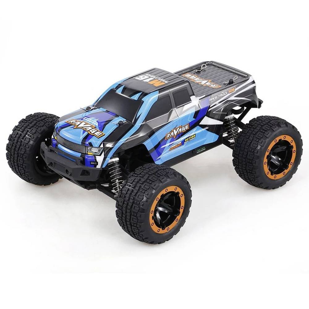 HAIBOXING 16889 2.4G 4WD 1 / 16 Brushless Splash Waterproof 30km / h Off-road Monster Truck RC Car RTR - Blu