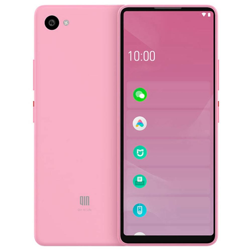 QIN Full Screen Bar Phone CN Version 4G LTE 5.05 Inch FHD+ Screen 1GB RAM 32GB ROM Android 9.0 - Pink