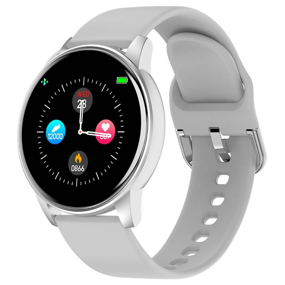 Makibes ZL01 SmartWatch 1.3 Inch IPS HD Screen IP67 Waterproof Bluetooth 4.0 Heart Rate Blood Pressure Monitor - White
