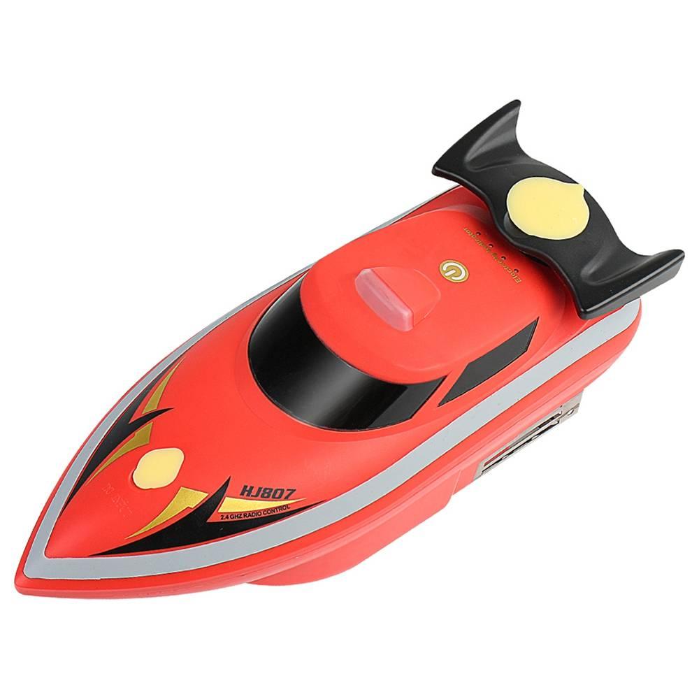 HONGXUNJIE HJ807 2.4G Elektrisch Visaas Remote Fish Finder Trek het net Wrak Schip RC Boot Met Tas - Rood