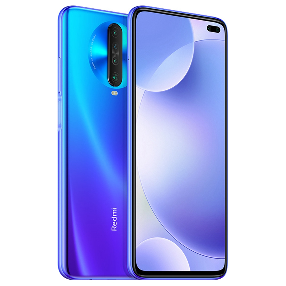 Xiaomi Redmi K30 CN Version 4G LTE Smartphone 6.67 Inch FHD+ Screen Snapdragon 730G Octa Core 6GB RAM 128GB ROM Android 10.0 Dual Front Quad Rear Cameras 4500mAh Large Battery - Blue
