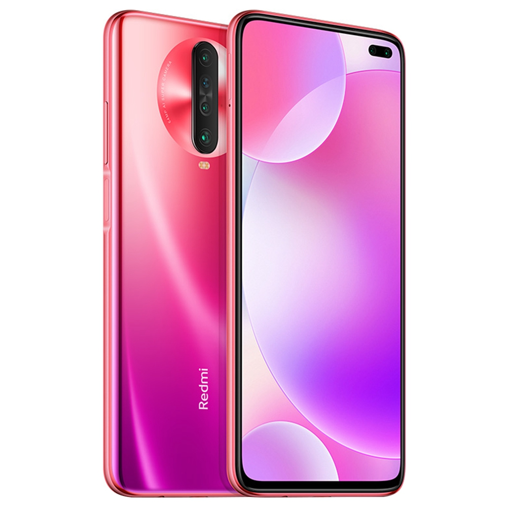 Xiaomi Redmi K30 CN Version 4G LTE Smartphone 6.67 Inch FHD+ Screen Snapdragon 730G Octa Core 8GB RAM 256GB ROM Android 10.0 Dual Front Quad Rear Cameras 4500mAh Large Battery - Red
