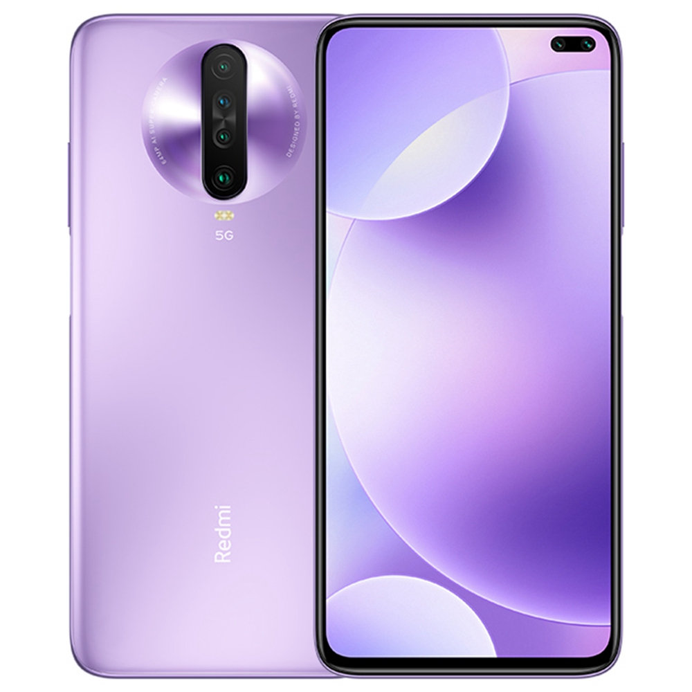 Xiaomi Redmi K30 5G Smartphone 6.67 Inch FHD+ Screen Snapdragon 765G Octa Core 8GB RAM 128GB ROM Android 10.0 Dual Front Quad Rear Cameras 4500mAh Large Battery - Purple