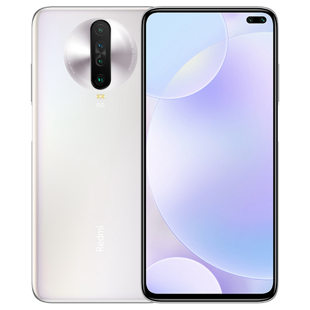 Xiaomi Redmi K30 CN Version 5G Smartphone 6.67 Inch FHD+ Screen Snapdragon 765G Octa Core 8GB RAM 128GB ROM Android 10.0 Dual Front Quad Rear Cameras 4500mAh Large Battery - White