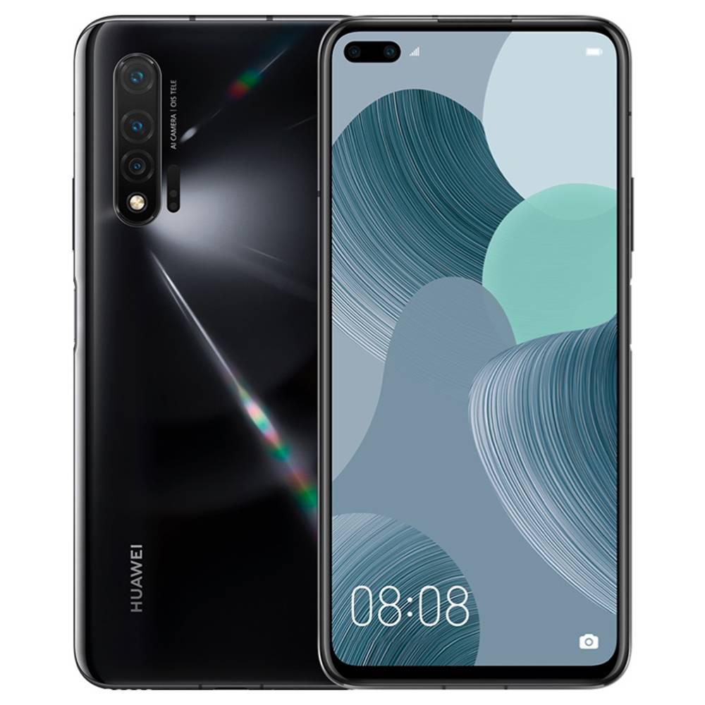 หัวเว่ยโนวา 6 CN รุ่น 4G LTE สมาร์ทโฟน 6.57 นิ้ว FHD + หน้าจอ Kirin 990 Octa Core 8GB RAM 128GB ROM Android 10.0 สามกล้องด้านหลัง 4100mAh แบตเตอรี่ขนาดใหญ่ - ดำ