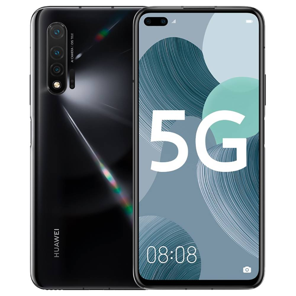 HUAWEI Nova 6 CN Version 5G Smartphone 6.57 Inch FHD+ Screen Kirin 990 Octa Core 8GB RAM 128GB ROM Android 10.0 Three Rear Camera 4200mAh Large Battery - Black