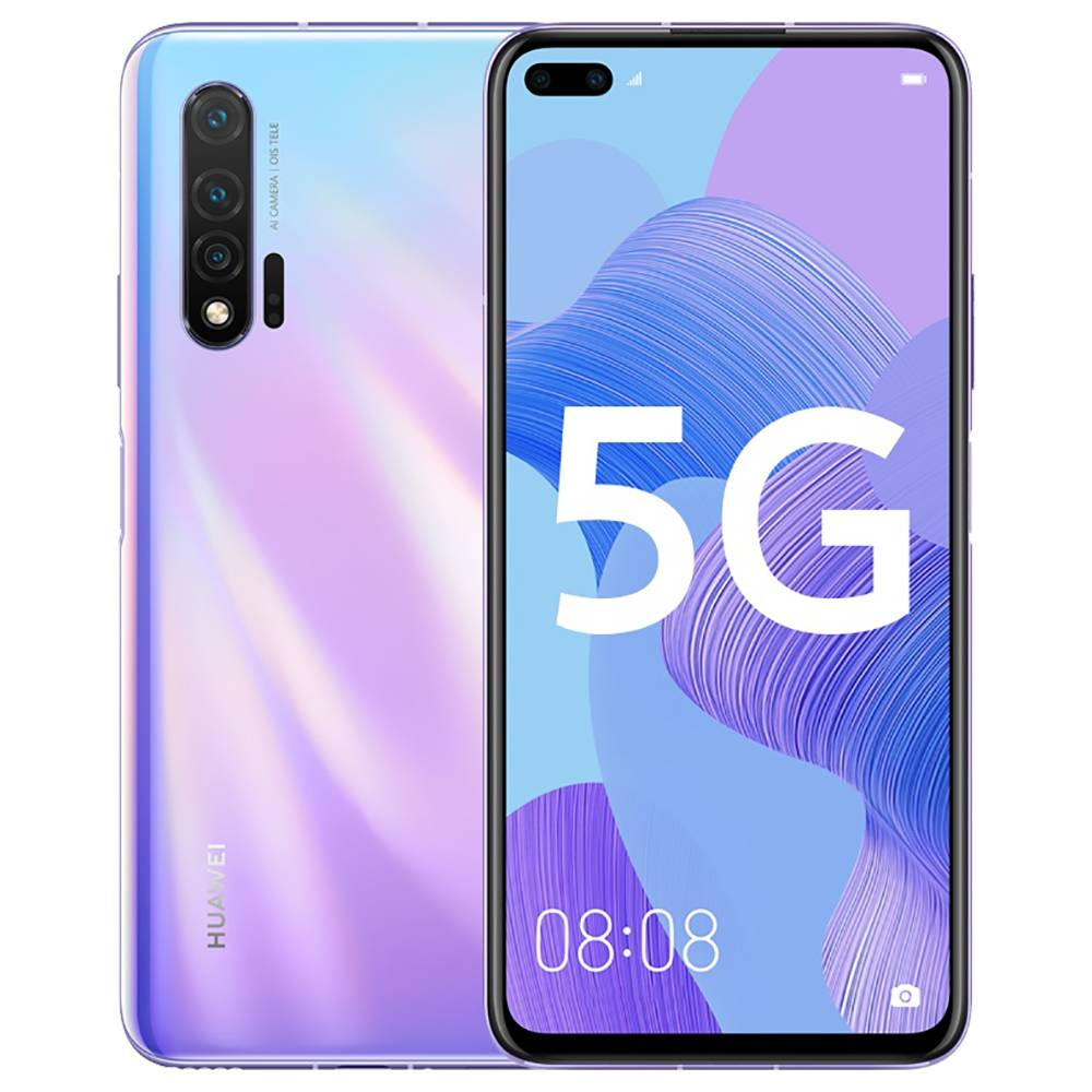 HUAWEI Nova 6 CN Version 5G Smartphone 6.57 Inch FHD+ Screen Kirin 990 Octa Core 8GB RAM 128GB ROM Android 10.0 Three Rear Camera 4200mAh Large Battery - Purple