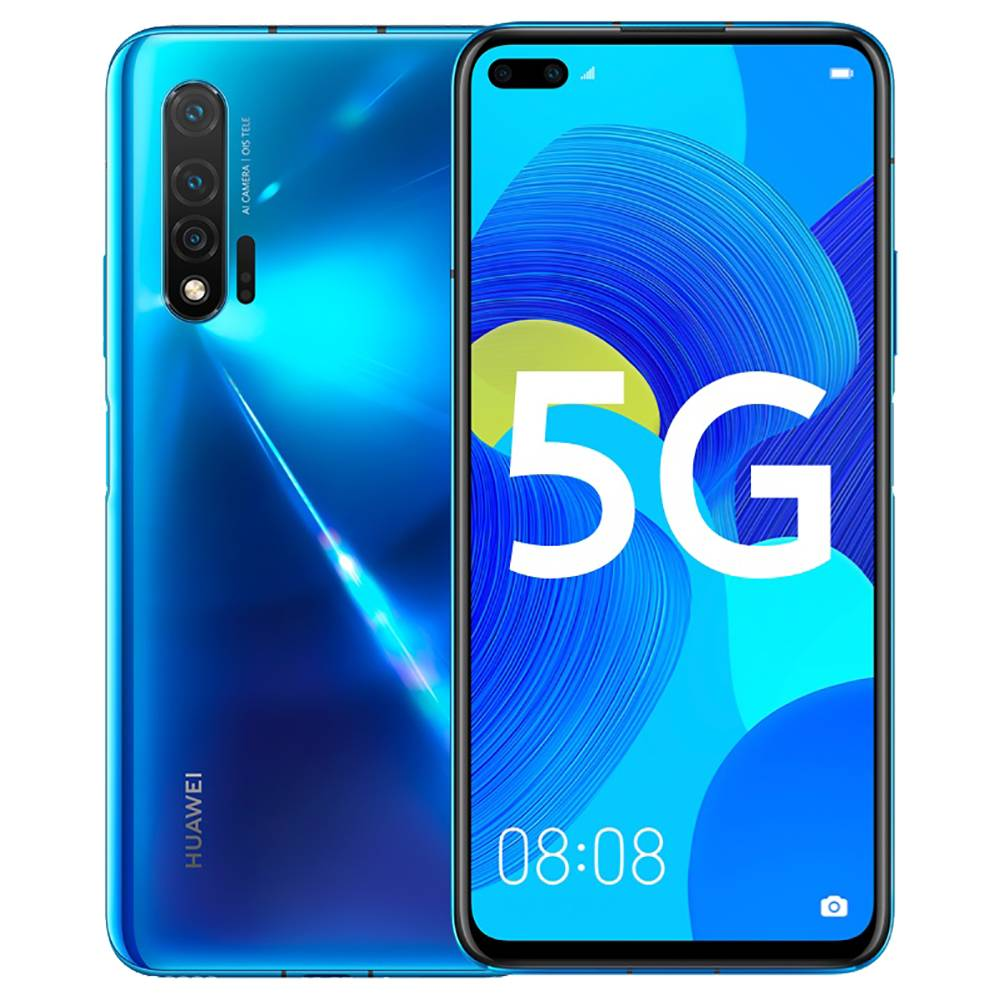 HUAWEI Nova 6 CN Version 5G Smartphone 6.57 Pouces FHD + Écran Kirin 990 Octa Core 8GB RAM 256GB ROM Android 10.0 Trois Caméra Arrière 4200mAh Grande Batterie - Bleu