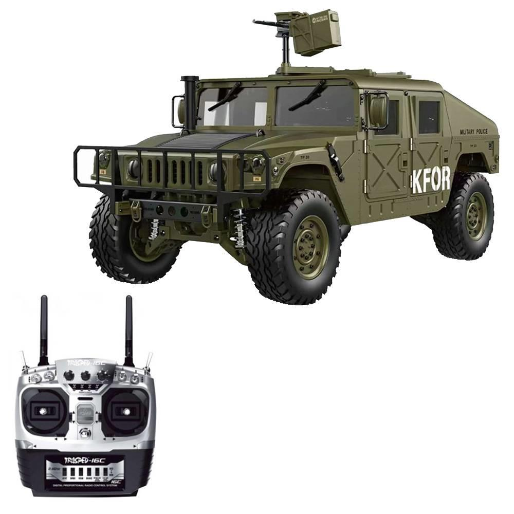 HG P408 1/10 2.4G 4WD U.S.4X4 Military Vehicle Truck RC Car Without Battery Charger RTR - ArmyGreen